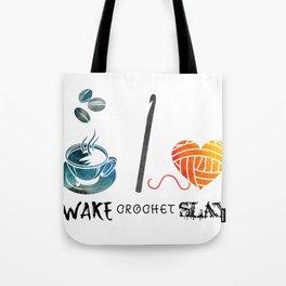 Wake Crochet Slay - Fiber Arts Quote Tote Bag