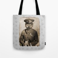 general Tote Bags featuring The general by Seamless
