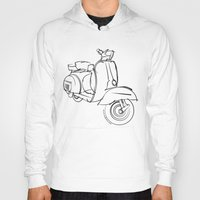 vespa Hoodies featuring Vespa by tuditees