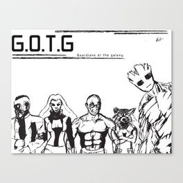 Guardians of the Galaxy black Canvas Print