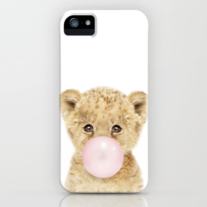 Bubble Gum Lion Cub iPhone Case