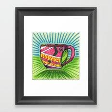 I drew you a hover mug of Coffee. (Oct.21, 2015) Framed Art Print