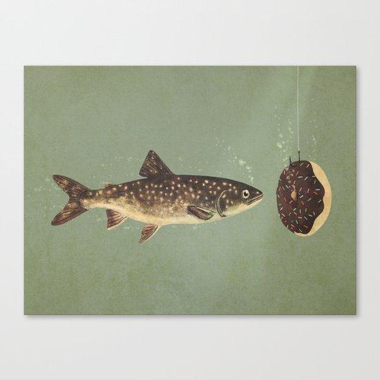 Irresistible Bait  Canvas Print
