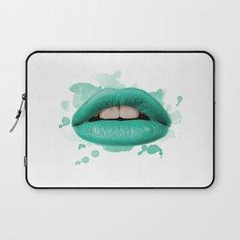 Blue Lips Laptop Sleeve