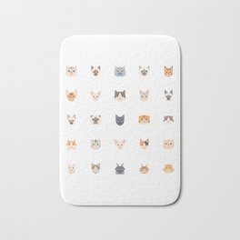 Cute Cats Pattern  |  Custom Cat Art  |  Perfect Gift for Cat Lovers  |  Cat Decor |  Cat Design  |  Cute Kittens |  Kittens and Kitties Bath Mat