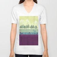 wildlife V-neck T-shirts featuring Wildlife by Kakel
