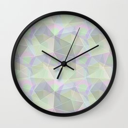 Polygonal pattern. Wall Clock