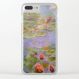 "Claude Monet ""Red Water Lilies"", 1919 Clear iPhone Case"