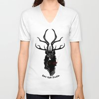 eat V-neck T-shirts featuring Eat the Rude by Natalie Hall