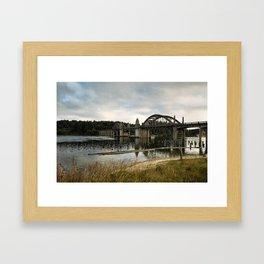 Siuslaw River Bridge Framed Art Print