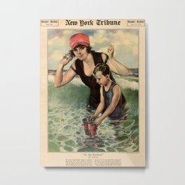 At the Seashore 1919 Metal Print