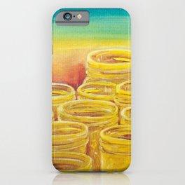 Orange Masonry iPhone Case