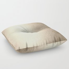 White Gold Sands Floor Pillow