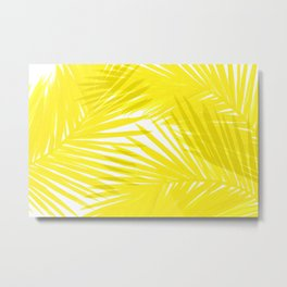 Palms Yellow Metal Print