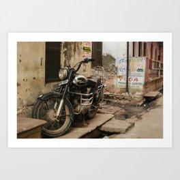 Royal Enfield Motorcycle in India Art Print