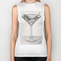 martini Biker Tanks featuring Addiction martini by CharlieValintyne