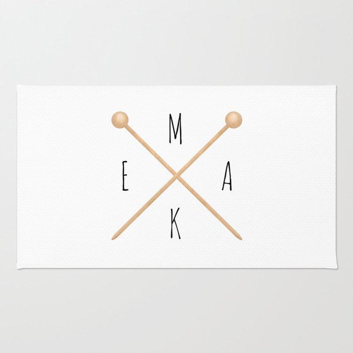 MAKE  |  Knitting Needles Rug