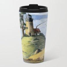 Peaceful Lighthouse IV Metal Travel Mug