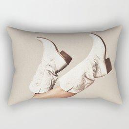 These Boots - Neutral Rectangular Pillow