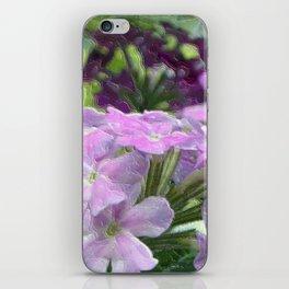 Verbena Floral Print iPhone Skin
