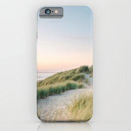 Dunes of Holland   Sunset travel photography   Pastel fine art beach print iPhone Case