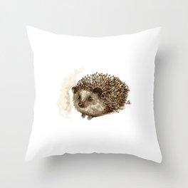 Little hedgehog Throw Pillow
