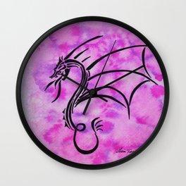 Hot Pink Dragon Wall Clock