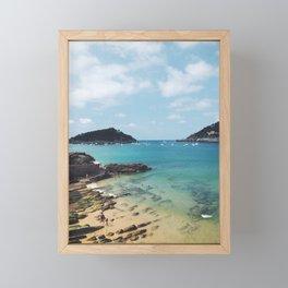 Summer in Donosita San Sebastian Spain Beach Framed Mini Art Print