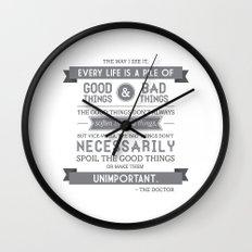 Good Things & Bad Things (gray) Wall Clock