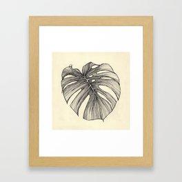 hoja 2 Framed Art Print