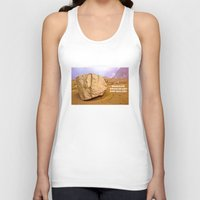 30 rock Tank Tops featuring THE ROCK by Bruce Stanfield