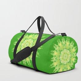 Curly Mandala in fresh lemon&green Duffle Bag