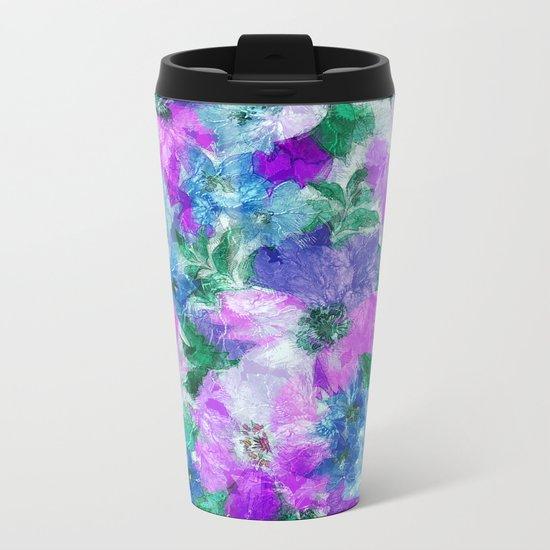 Splendid Flowers 3 Metal Travel Mug