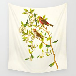 Lesser Red-Poll Bird Wall Tapestry