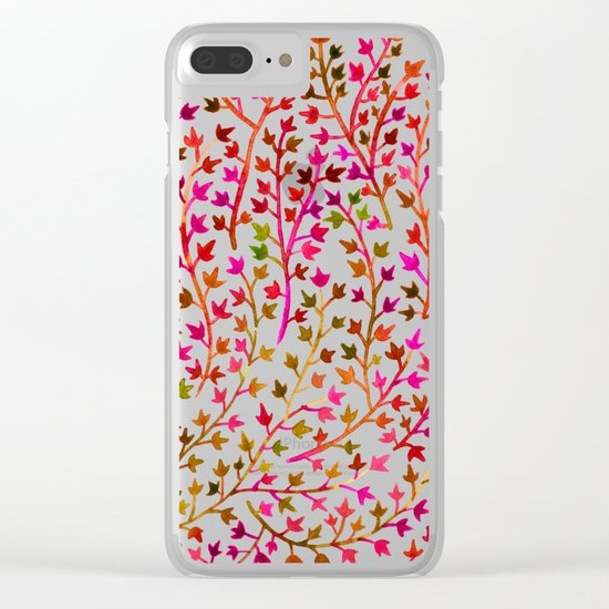 Pink Ivy Clear iPhone Case