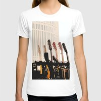 cleveland T-shirts featuring Guitars Cleveland DownTown by Dawn