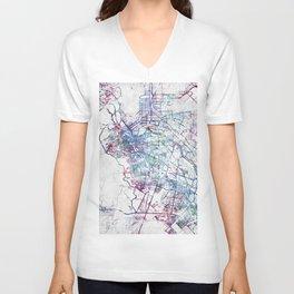 El Paso map Unisex V-Neck