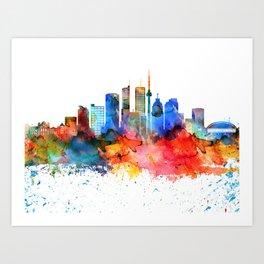 Toronto Colorful Drops Skyline Art Print
