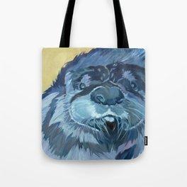 Mustache the Otter Tote Bag