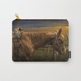 Saddle Horse on the Prairie Carry-All Pouch