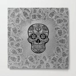 Skull20170233_by_JAMFoto Metal Print