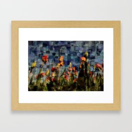 Champ de Tulipes Mosaïque Framed Art Print