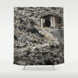 A lonely home in the hills. Shower Curtain