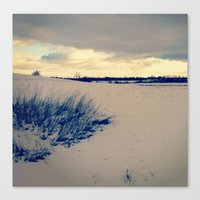 wisconsin Canvas Prints featuring Wisconsin Winter by Josrick
