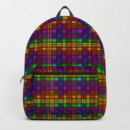 Over The Rainbow Plaid Backpack
