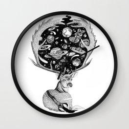 Space Deer Wall Clock