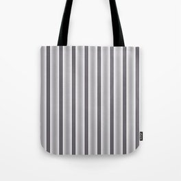 Gray Stripes Tote Bag