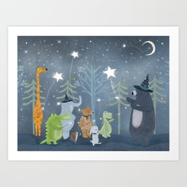 magic stars Art Print