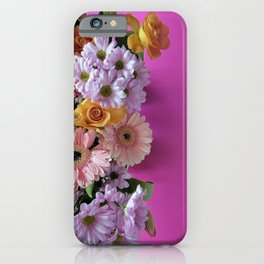 pink 'n flowers iPhone Case