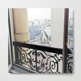 View Out My Parisian Window Metal Print
